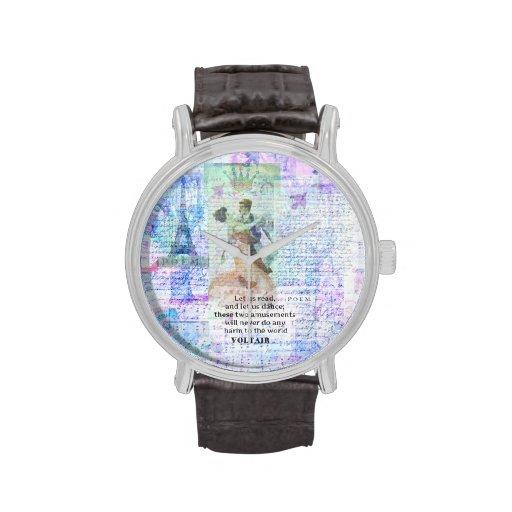 BAILE romántico, inspirado de la cita de VOLTAIR Relojes De Pulsera
