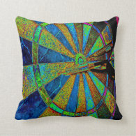 Bailed Bulls Eye Throw Pillow