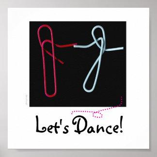 Bailemos - los clips de papel posters