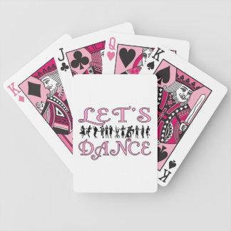 Bailemos pares del baile barajas de cartas