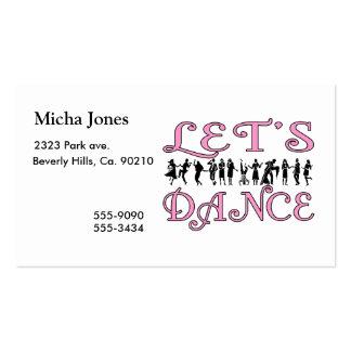 Bailemos pares del baile tarjetas de visita