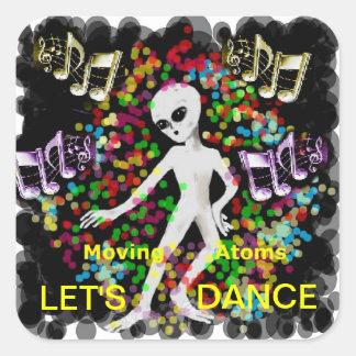 Bailemos Pegatina Cuadrada