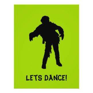 """¡Bailemos! Silueta negra del zombi Folleto 8.5"""" X 11"""""""
