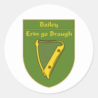 Bailey 1798 Flag Shield Classic Round Sticker