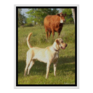 BAILEY AND THE COW POSTER