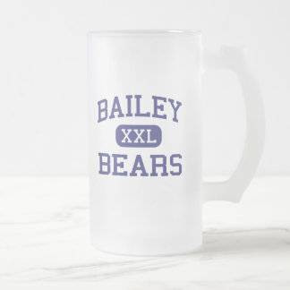 Bailey Bears Middle School Austin Texas Frosted Glass Beer Mug