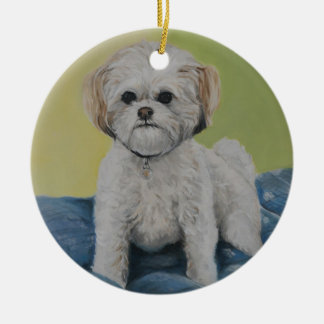 Bailey Bichon/shihtzu Art Ornament