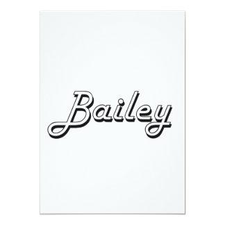 Bailey Classic Retro Name Design 5x7 Paper Invitation Card