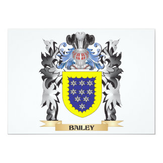 Bailey Coat of Arms - Family Crest 5x7 Paper Invitation Card