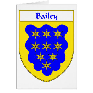 Bailey Coat of Arms/Family Crest Card