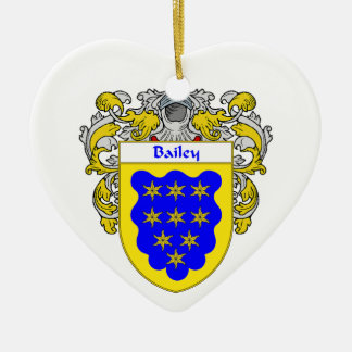 Bailey Coat of Arms/Family Crest Ceramic Ornament