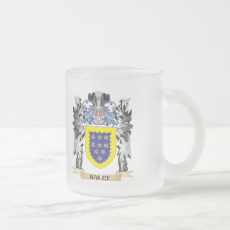 Bailey Coat of Arms - Family Crest Frosted Glass Coffee Mug