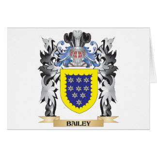 Bailey Coat of Arms - Family Crest Greeting Card