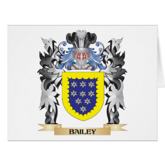 Bailey Coat of Arms - Family Crest Large Greeting Card