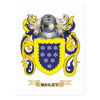 Bailey Coat of Arms (Family Crest) Postcard