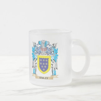 Bailey Coat of Arms Frosted Glass Coffee Mug