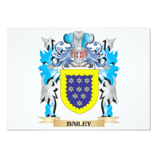 Bailey Coat of Arms 5x7 Paper Invitation Card