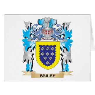 Bailey Coat of Arms Large Greeting Card