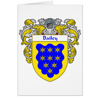 Bailey Coat of Arms (Mantled) Card
