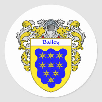 Bailey Coat of Arms (Mantled) Classic Round Sticker