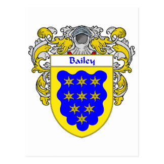 Bailey Coat of Arms (Mantled) Postcard