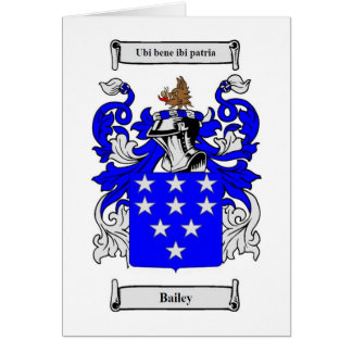 Bailey (English) Coat of Arms Card