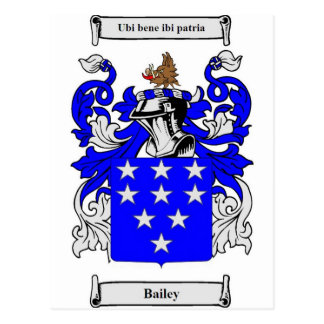 Bailey (English) Coat of Arms Postcard
