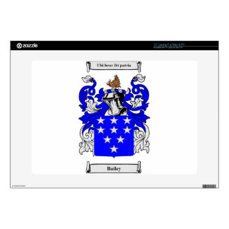 """Bailey (English) Coat of Arms Skin For 15"""" Laptop"""