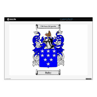 Bailey (English) Coat of Arms Laptop Decals