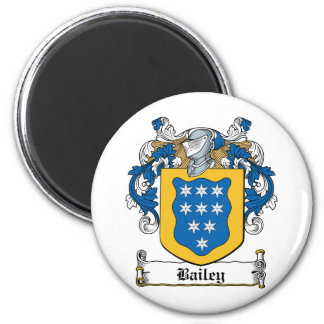 Bailey Family Crest 2 Inch Round Magnet