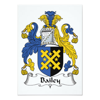 Bailey Family Crest 5x7 Paper Invitation Card