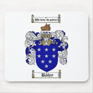 BAILEY FAMILY CREST -  BAILEY COAT OF ARMS MOUSE PAD