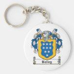 Bailey Family Crest Basic Round Button Keychain