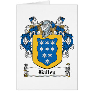 Bailey Family Crest Greeting Card