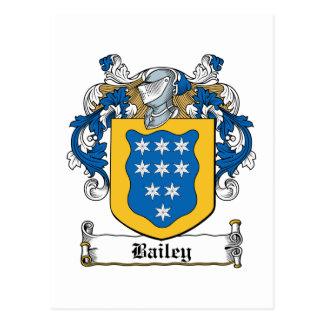 Bailey Family Crest Postcard