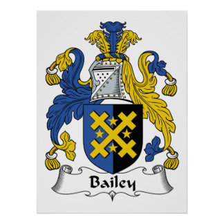 Bailey Family Crest Poster
