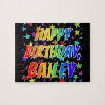 "[ Thumbnail: ""Bailey"" First Name, Fun ""Happy Birthday"" Jigsaw Puzzle ]"