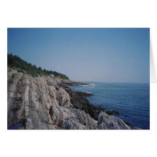 Bailey Island rocky shore Card