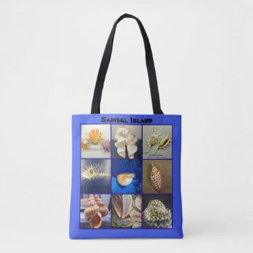 Beach Themed Bailey Matthews SeaShells Sanibel Island Florida Tote Bag