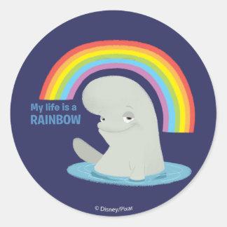 Bailey | My Life is a Rainbow Classic Round Sticker