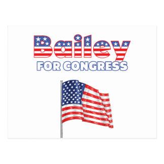 Bailey para el diseño patriótico de la bandera tarjeta postal