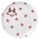 Bailey Plate - red