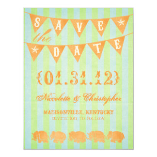 """Bailey Save the Date Announcements 4.25"""" X 5.5"""" Invitation Card"""