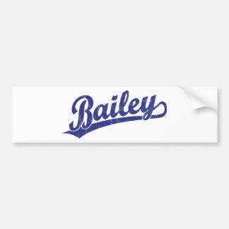 Bailey script logo in blue bumper sticker