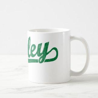 Bailey script logo in green coffee mug