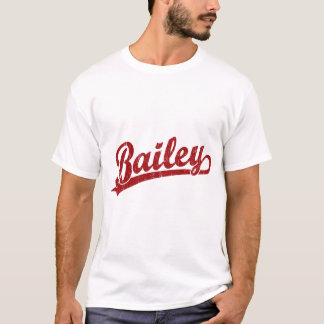 Bailey script logo in red T-Shirt
