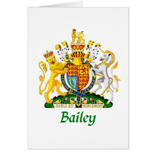 Bailey Shield of Great Britain Card
