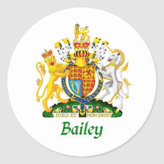 Bailey Shield of Great Britain Classic Round Sticker
