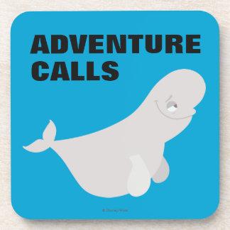 Bailey the Beluga Whale Beverage Coaster