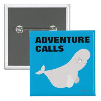Bailey the Beluga Whale Button